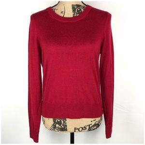 J. Crew Merino Wool Long Sleeve Sweater Red Sz S